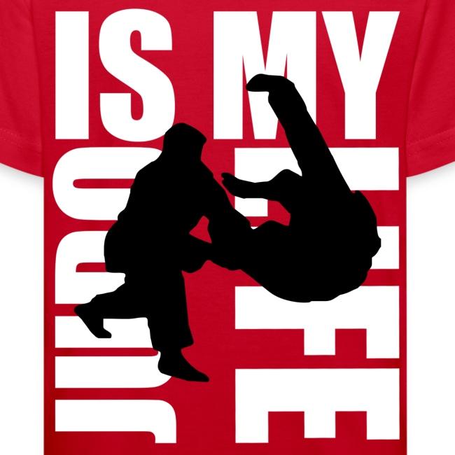 T shirt enfant judo is my life