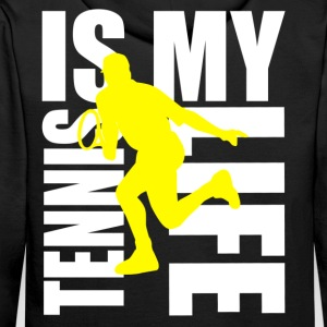 tennis is my life Sweat-shirts - Sweat-shirt à capuche Premium pour hommes