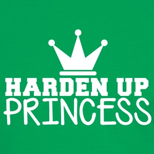 HARDEN UP PRINCESS with a royal crown T-Shirts - Men's Ringer Shirt