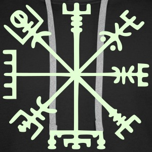 Vegvísir (Viking Compass) / Glow in the Dark Hoodies & Sweatshirts - Men's Premium Hoodie