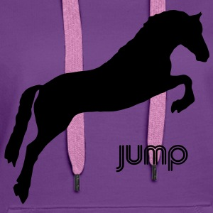 Jumping Horse - you can change the colour Sweatshirts - Dame Premium hættetrøje