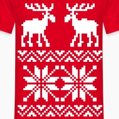 Moose Pattern Christmas Sweater T-Shirts