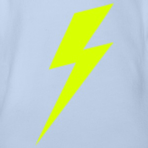 Lightning Bolt VECTOR Baby Shirts  - Organic Short-sleeved Baby Bodysuit