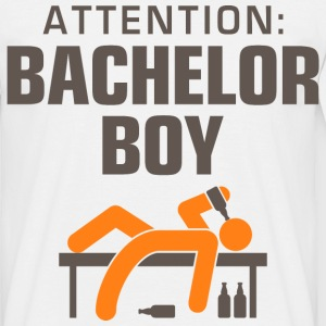 Attention Bachelor Boy 3 (dd)++ T-shirts - Mannen T-shirt