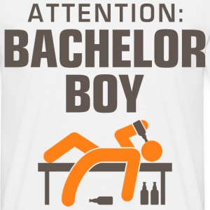 Attention Bachelor Boy 3 (dd)++ T-Shirts - Men's T-Shirt