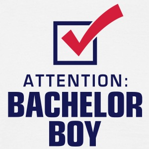 Attention Bachelor Boy 2 (2c)++ T-skjorter - T-skjorte for menn