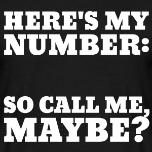 Call Me Maybe T-shirts - Mannen T-shirt