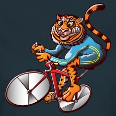 Olympic Cycling Tiger T-Shirts