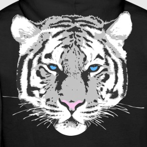 Tigre blanc Sweat-shirts - Sweat-shirt à capuche Premium pour hommes