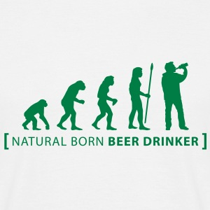 evolution_beer_drinker T-Shirts - Men's T-Shirt