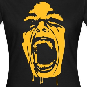 Nero screaming_face T-shirt - Maglietta da donna