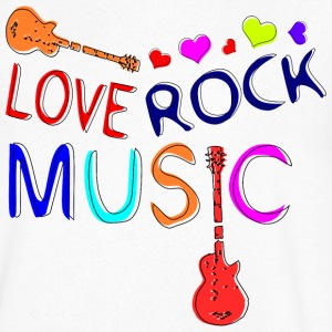 Love Rock Music Men's V-Neck T-Shirt by Canvas - Men's V-Neck T-Shirt