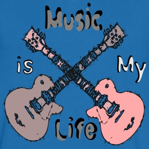 Music is my life Men's V-Neck T-Shirt by Canvas  - Men's V-Neck T-Shirt