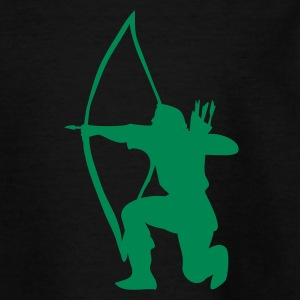 Longbow Archer kneeling stance Tee shirts Enfants - T-shirt Ado