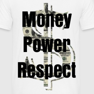 dollar Money Power Respect au dos.  - T-shirt Homme