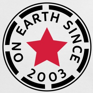 on earth since 2003 (uk) T-Shirts - Women's Ringer T-Shirt