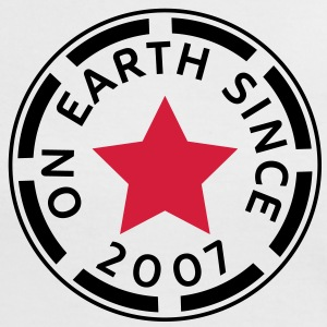 on earth since 2007 (sv) T-shirts - Kontrast-T-shirt dam