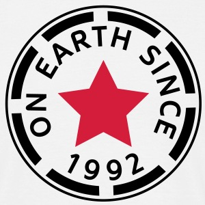 on earth since 1992 (sv) T-shirts - T-shirt herr
