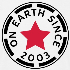 on earth since 2003 (uk) T-Shirts - Men's T-Shirt