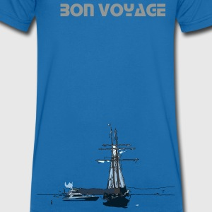 Bon voyage sailing Men's V-Neck T-Shirt by Canvas - Men's V-Neck T-Shirt