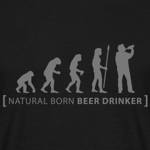 evolution_beer_drinker T-skjorter - T-skjorte for menn