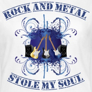 Rock and Metal stole my soul - blue T-Shirts - Women's T-Shirt