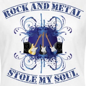 Rock and Metal stole my soul - blue Camisetas - Camiseta mujer