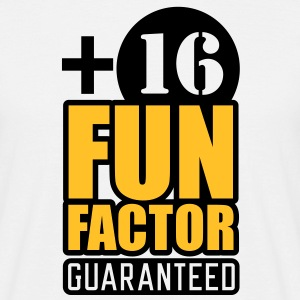 Fun Factor +16 | guaranteed T-Shirts - Maglietta da uomo