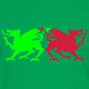 rampant dragons solid colour T-Shirts - Men's Ringer Shirt