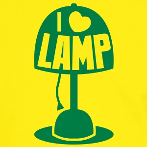 I LOVE LAMP with light and cord T-Shirts - Men's Ringer Shirt