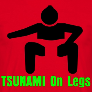 Tsunami on legs - Männer T-Shirt