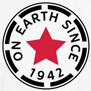 on earth since 1942 (dk) T-shirts - Herre kontrast-T-shirt