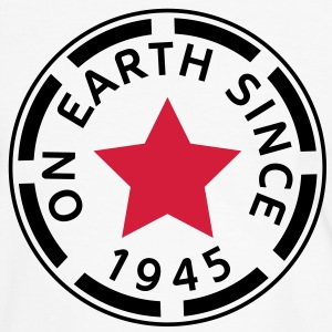 on earth since 1945 (sv) T-shirts - Kontrast-T-shirt herr