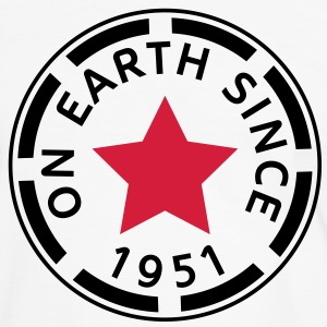 on earth since 1951 (dk) T-shirts - Herre kontrast-T-shirt