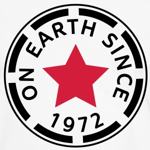 on earth since 1972 (nl) T-shirts - Mannen contrastshirt