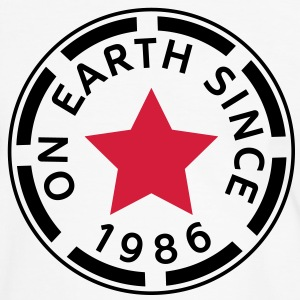 on earth since 1986 (nl) T-shirts - Mannen contrastshirt