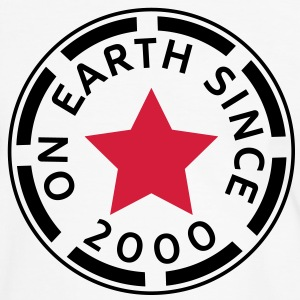 on earth since 2000 (sv) T-shirts - Kontrast-T-shirt herr