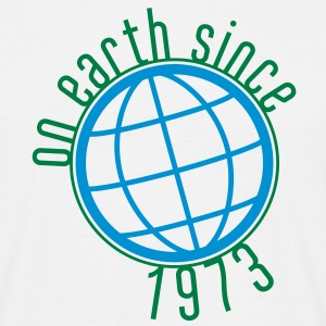 Birthday Design - (thin) on earth since 1973 (uk) T-Shirts - Men's T-Shirt