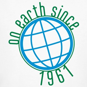 Birthday Design - (thin) on earth since 1961 (uk) T-Shirts - Men's Organic T-shirt