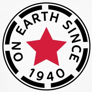 on earth since 1940 (sv) T-shirts - Ekologisk T-shirt herr