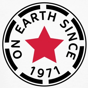 on earth since 1971 (nl) T-shirts - Mannen Bio-T-shirt