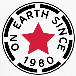 on earth since 1980 (nl) T-shirts - Mannen Bio-T-shirt