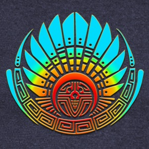 Crop circle - Mayan mask - Silbury Hill 2009 - Quetzalcoatl  - Aztec - Venus - 2012 - Symbol New Age / Hoodies & Sweatshirts - Women's Boat Neck Long Sleeve Top