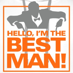 Hello Im The Bestman 1 (dd)++ Hoodies & Sweatshirts - Men's Premium Hoodie