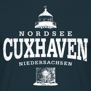 Cuxhaven Nordsee (weiss oldstyle) - Männer T-Shirt