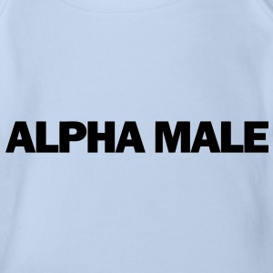 Alpha Male Baby Shirts  - Organic Short-sleeved Baby Bodysuit