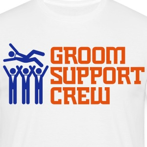 Groom Support Crew 2 (2c)++ T-shirts - Herre-T-shirt
