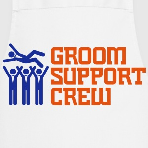 Groom Support Crew 2 (2c)++ Kookschorten - Keukenschort