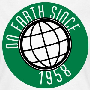 Birthday Design - On Earth since 1958 (es) Camisetas - Camiseta mujer
