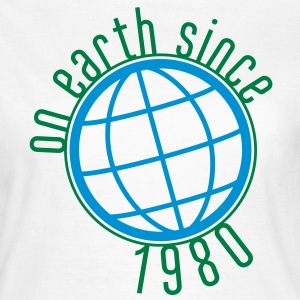 Birthday Design - (thin) on earth since 1980 (uk) T-Shirts - Women's T-Shirt